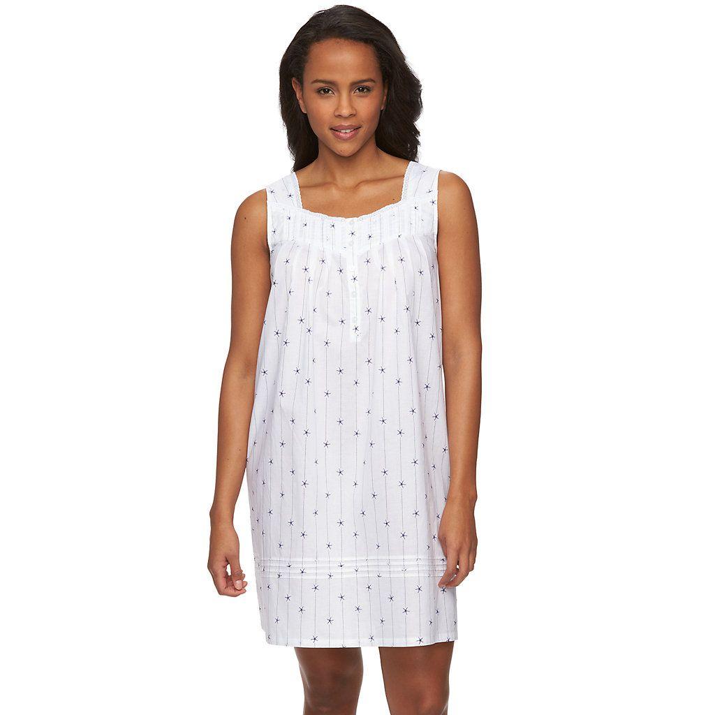 Women's Croft & Barrow® Pajamas: Short Woven Nightgown
