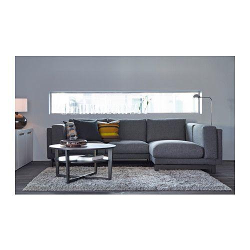 Ecksofa ikea grau  NOCKEBY 2er-Sofa mit Récamiere links - Holz, links/Tenö dunkelgrau ...