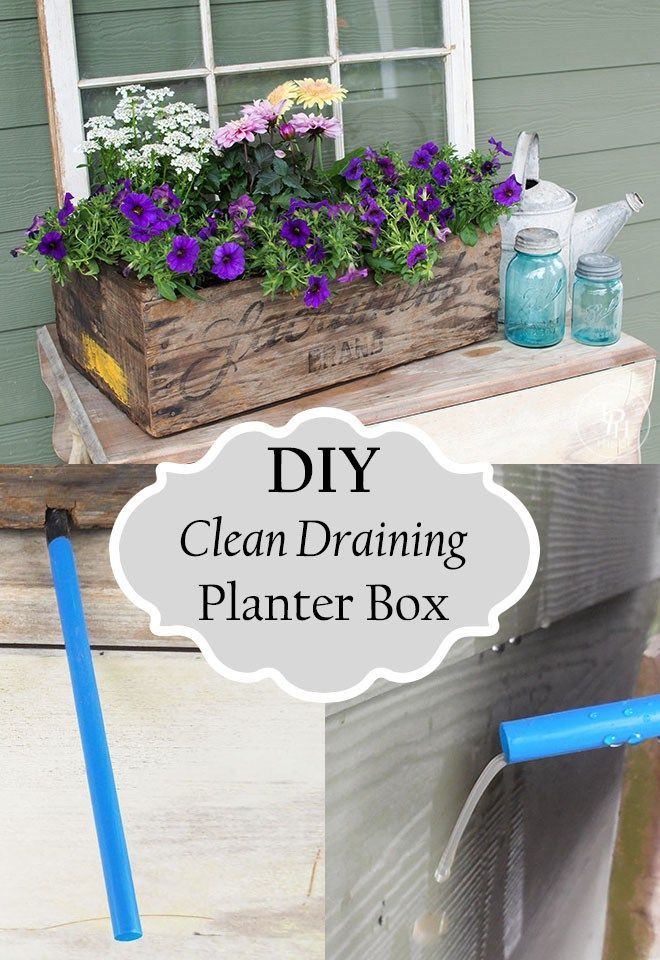 Diy Cleaning Draining Planter Box Tutorial No More Messy Dirt Drainage All Over My Deck