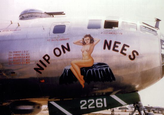 B-29 Superfortress bomber World War II 1940s Nip on Nees