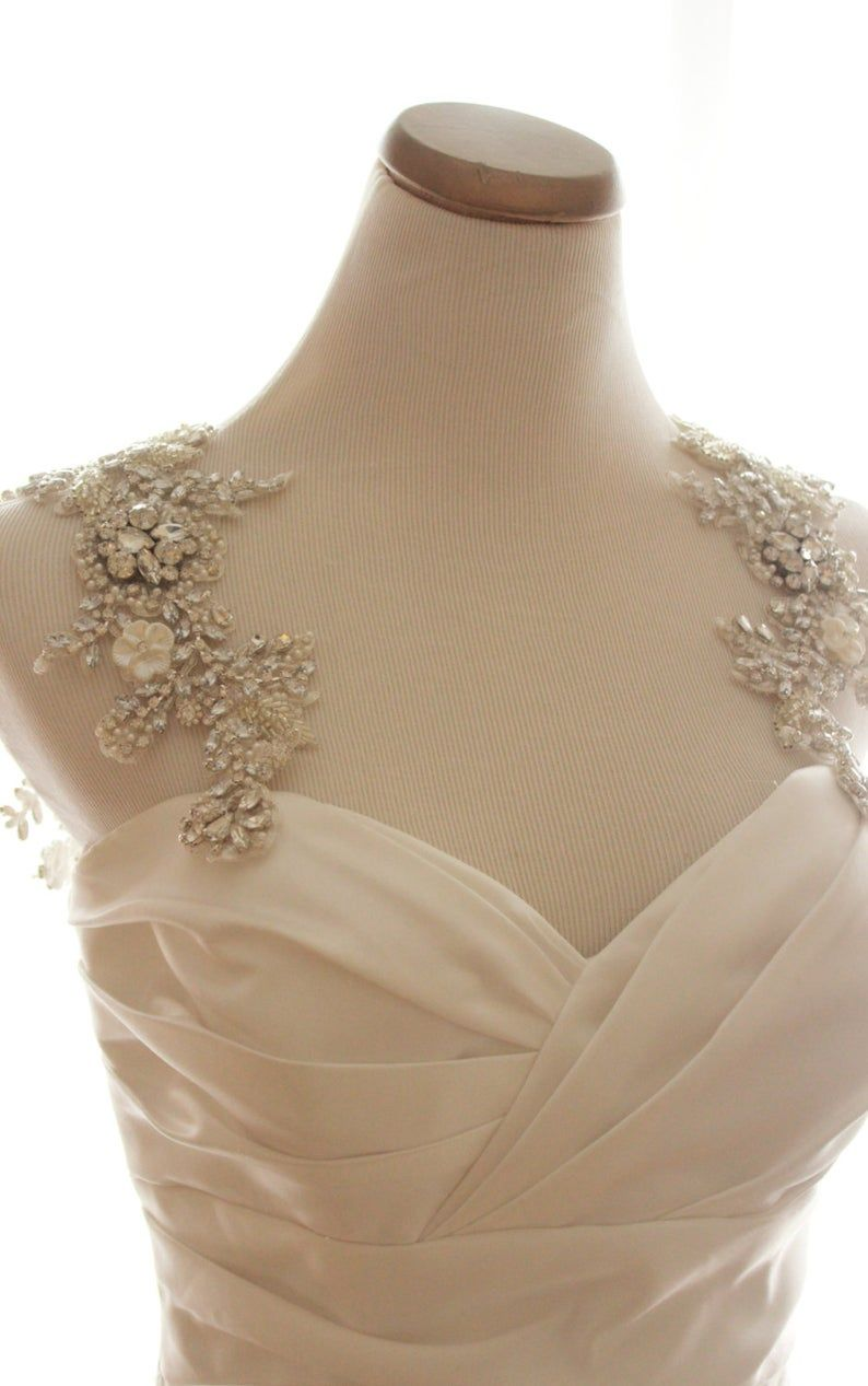 25++ Pearl wedding dress straps information