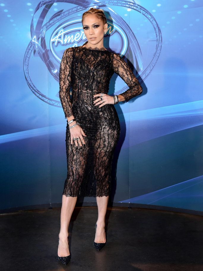 1de52d2d3d J.Lo Stuns in a Sheer Dress and Cornrows on American Idol—Here s How ...
