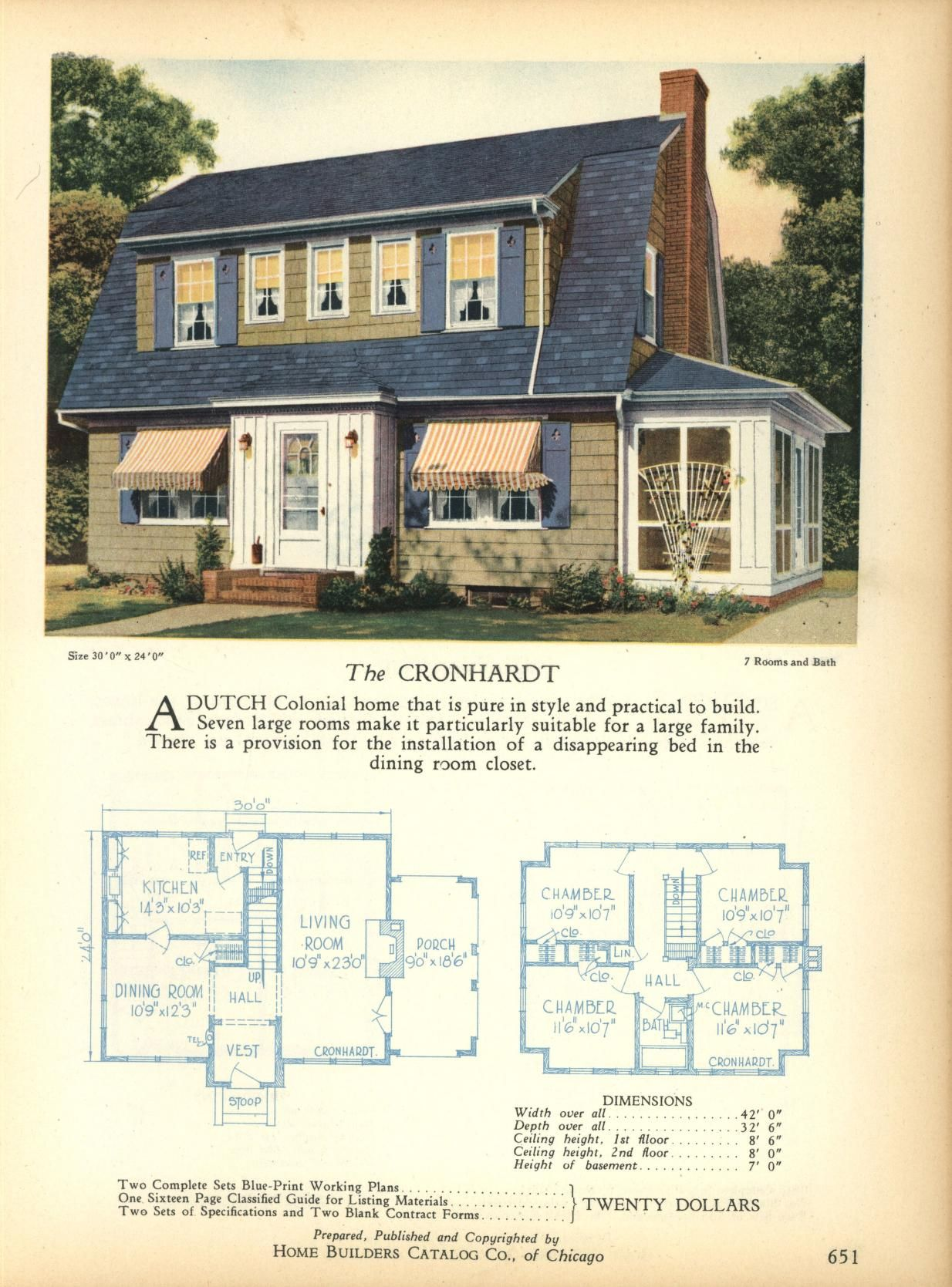 Amazing The Cronhardt   Home Builders Catalog: Plans Of All Types Of Small Homes By  Home