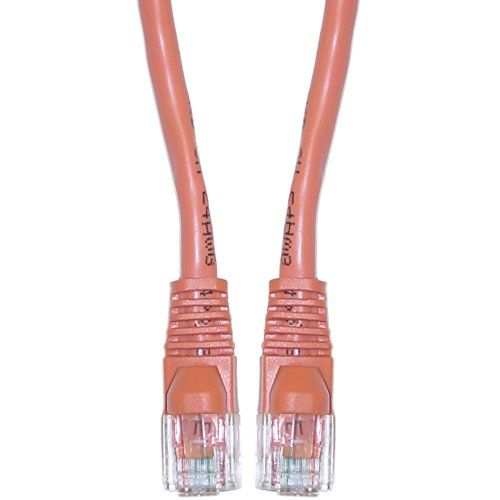 Skubros Cat6 Orange Ethernet Crossover Cable Snaglessmolded Boot 3 Foot Cat6 Cat7 Shielded Lan Adpater Networking Wire Cl Computers Accessories Compu