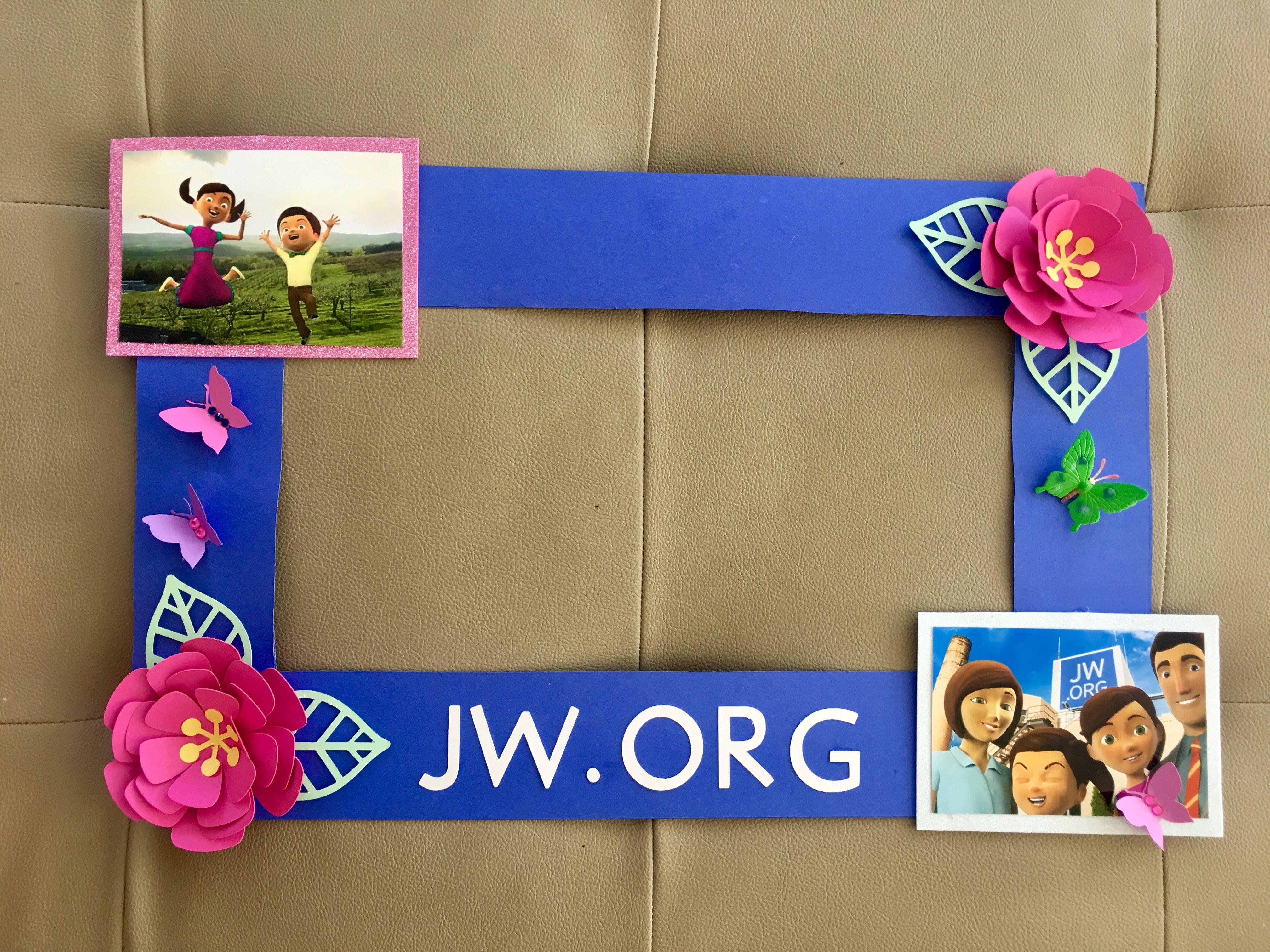 Marco para sacarse foto Sofía y Caleb. Jw.org Hazte amigo de Jehová ...