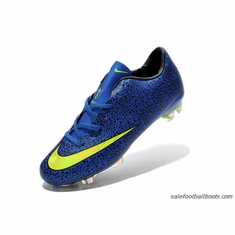 Nike Mercurial Victory X FG Blue Fluorescent Green  63.99  0bf292e10