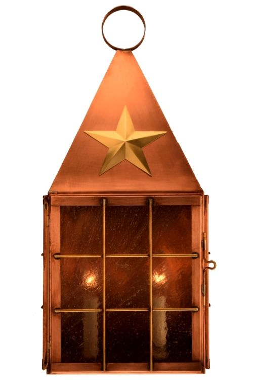 Americana Star Copper Lantern Outdoor Lighting Made In Usa