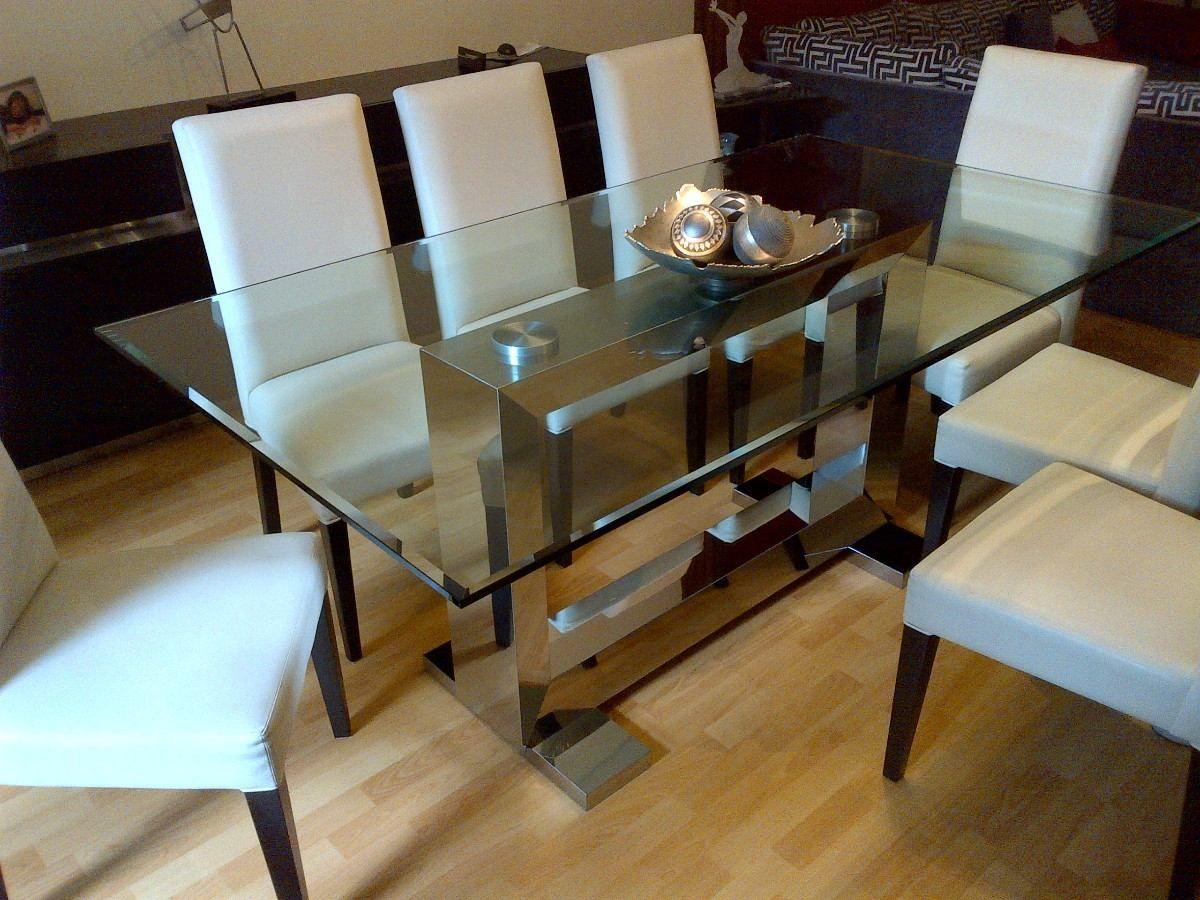 Mesa pecu acero inoxidable linea aluminate oferta - Mesas de comedor de cristal y acero ...