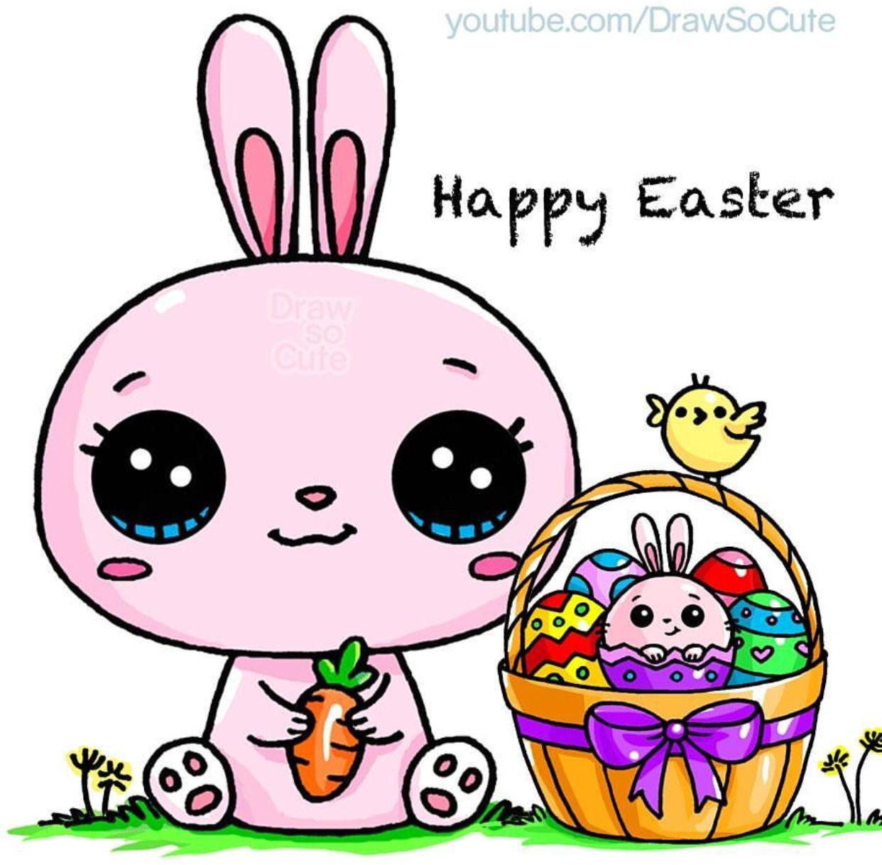 Easter Draw So Cute Kawaii Tekeningen Schattige Tekeningen Dingen Om Te Tekenen