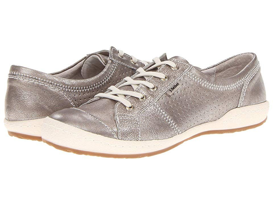 Josef Seibel Caspian Platin Metallic Womens Shoes Please click for the Josef Seibel footwear size guide Be the talk of the town this summer with this fancy laceup sneaker...