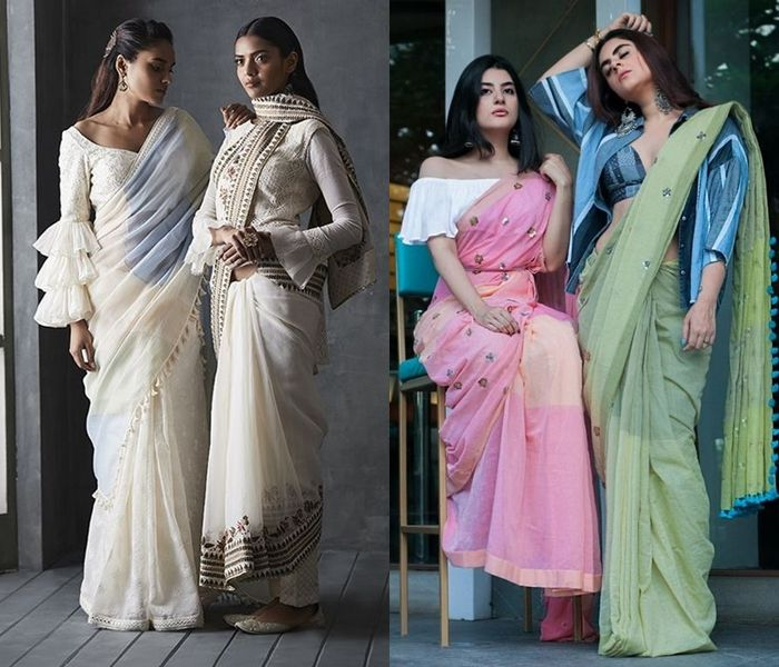 c657195806 Here are our 15 DIY Indo western saree draping ideas and blouse designs  that will make you create a stylish saree look without spending a ton!