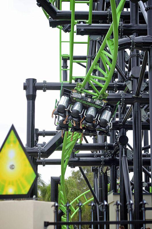 Green Lantern Coaster Warner Bros Movie World Australia Roller Coaster Best Roller Coasters Theme Parks Rides