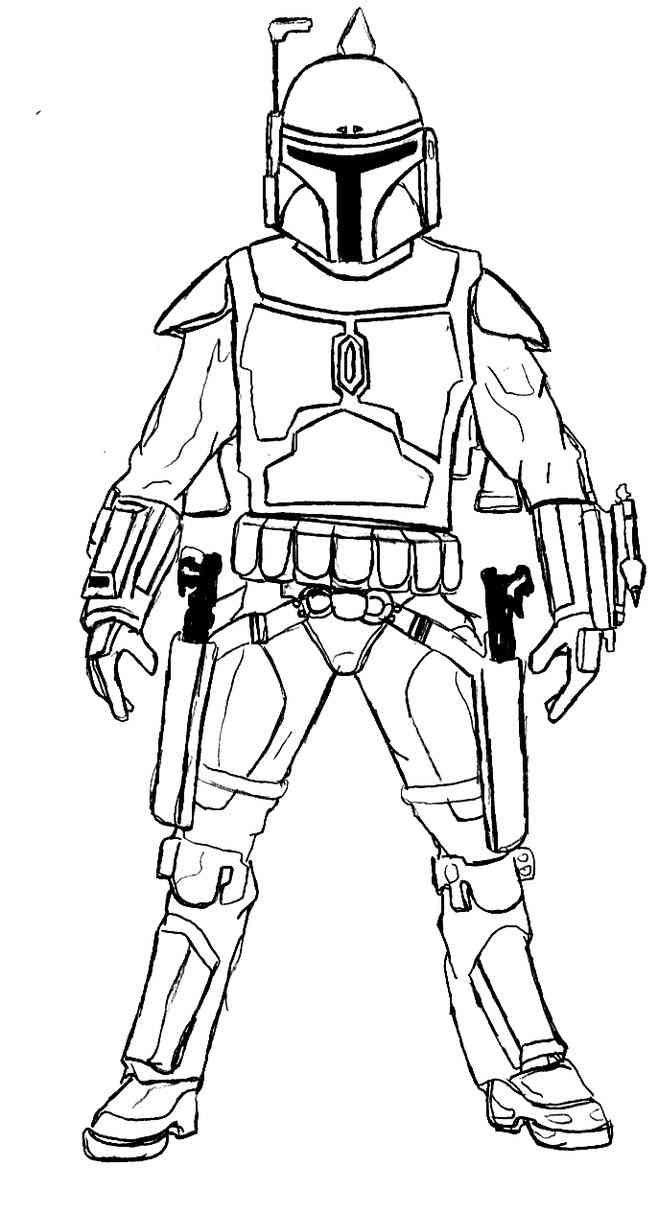Boba Fett (4) | Star wars coloring book, Star wars ...