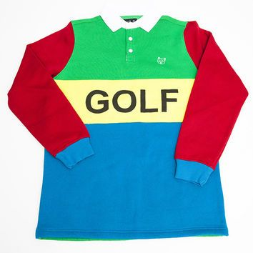 2ecf2cb7f40c41 GOLF RUGBY SHIRT KELLY GREEN – golfwang from Golfwang | Long | Golf ...