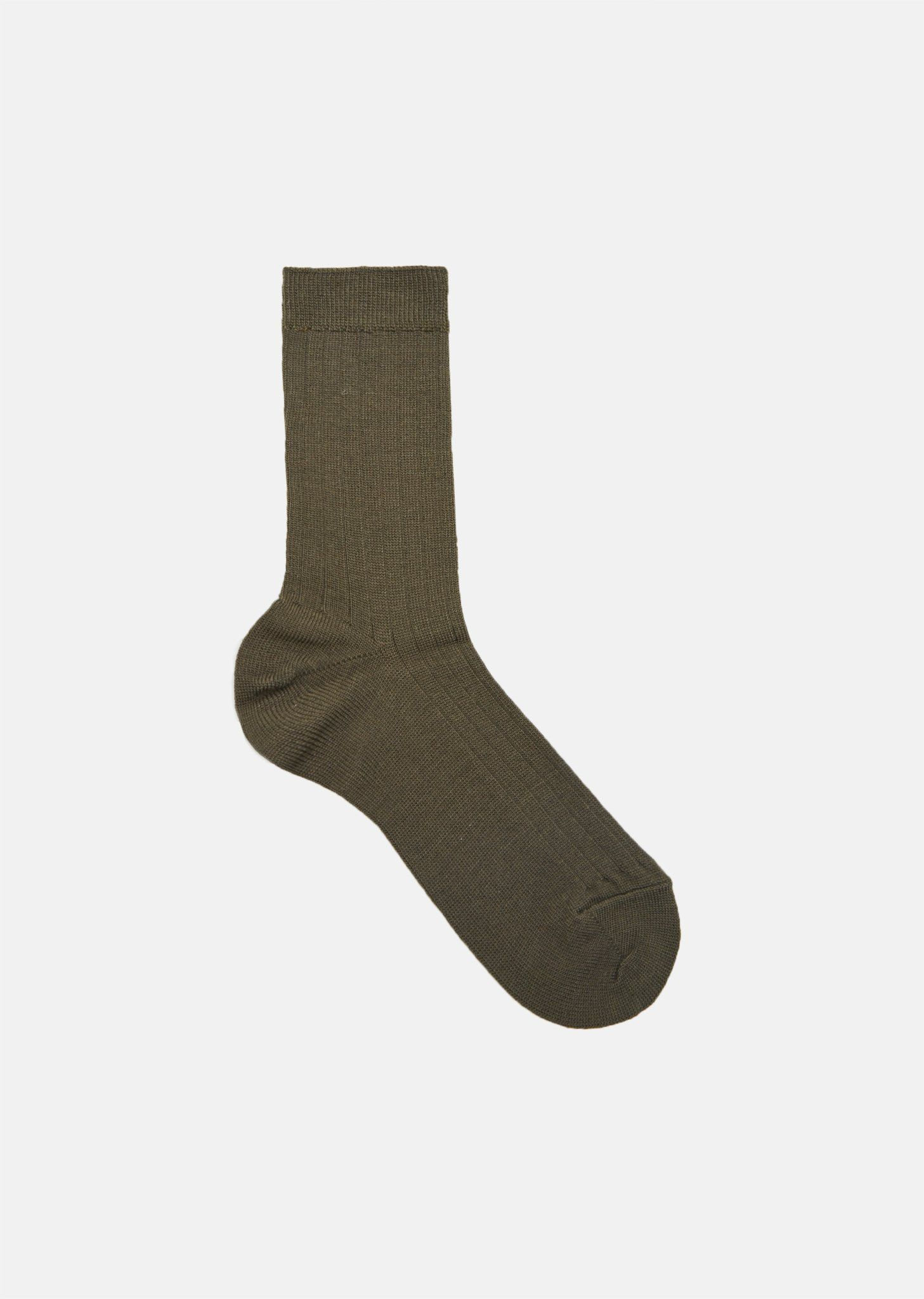 Ribbed Socks - One Size / Moss Green