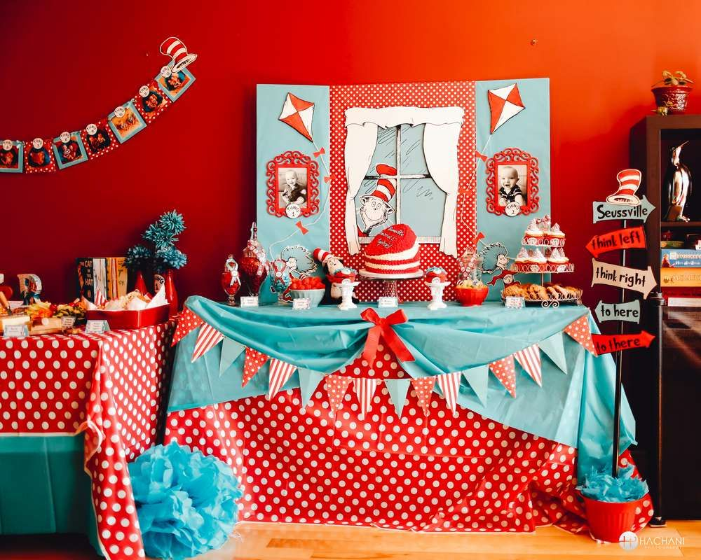 Thing 1 thing 2 dr seuss Birthday Party Ideas Birthday party ideas
