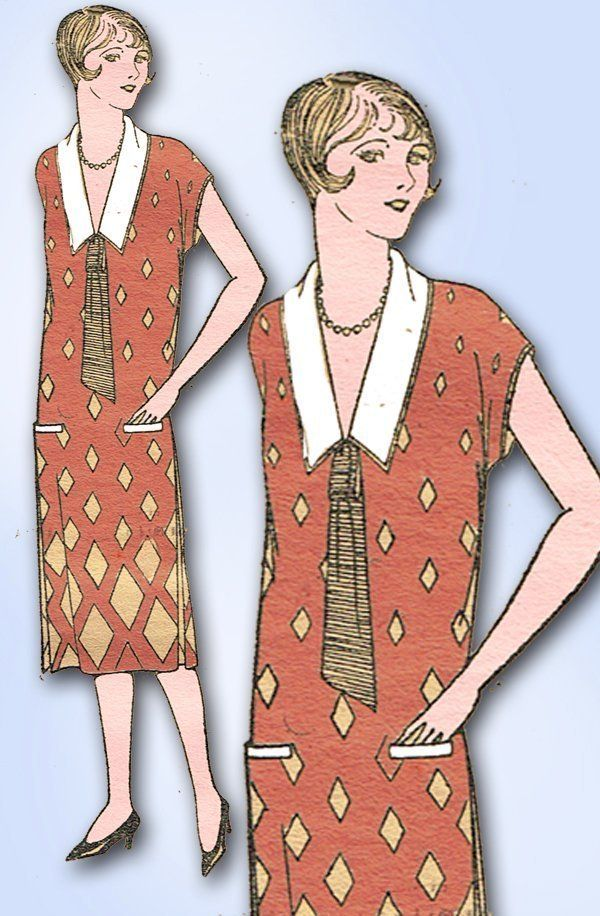 1920s ORIGINAL Gorgeous Mail Order Flapper Dress Pattern Sz 36 B ...