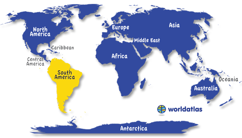Map Of Europe And South America.South America Tricia Geography Map Europe Facts