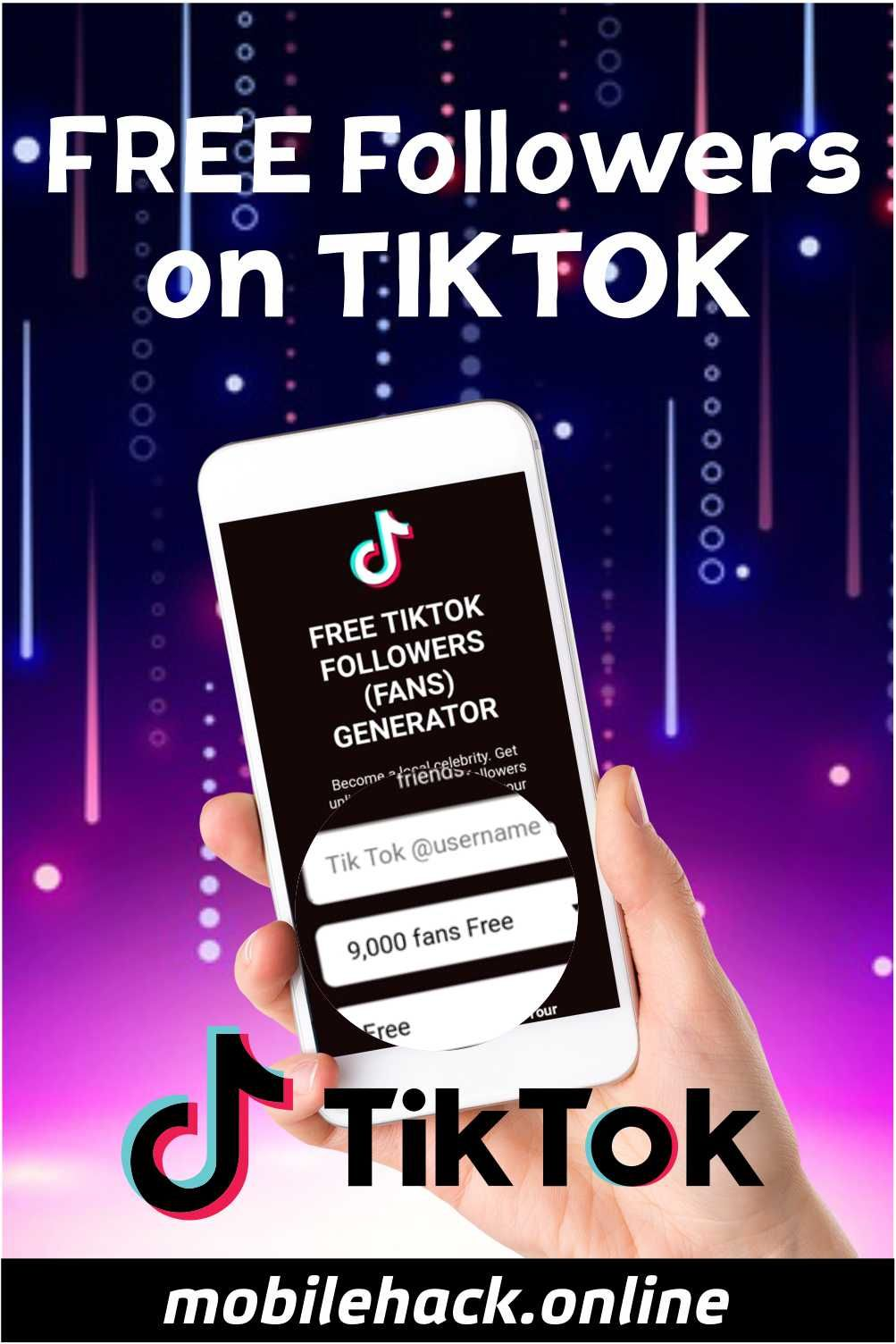 Free Tiktok Followers Free Followers How To Get Followers Auto Follower