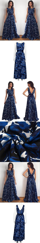 new brand women floorlength dress russian elegant print long