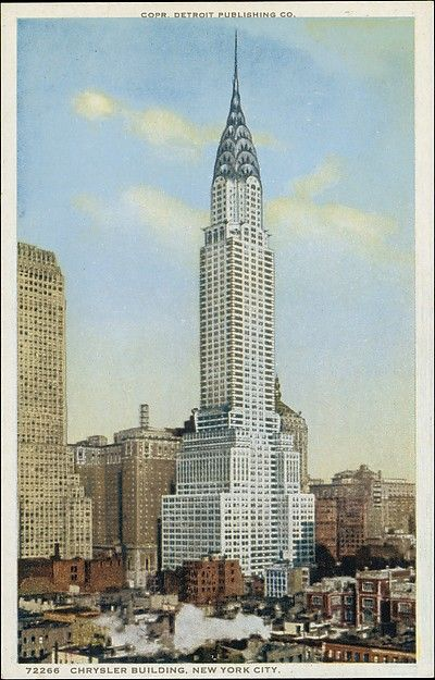 Detroit Publishing Company (American). Chrysler Building, New York City The Metropolitan Museum of Art, New York. The Jefferson R. Burdick Collection, Gift of Jefferson R. Burdick (Burdick 325, R323.10) #newyork #nyc
