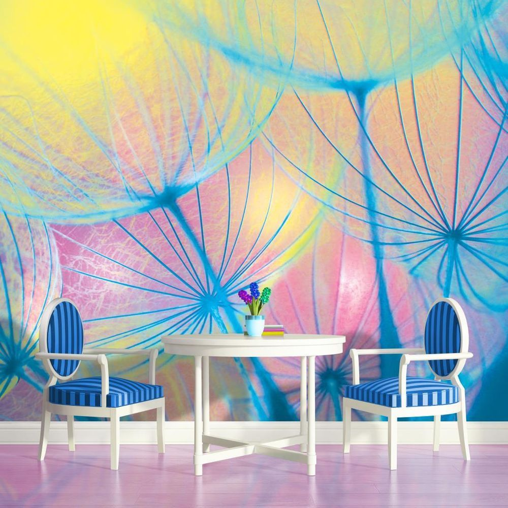 Details about Rainbow Dandelion Photo Wallpaper Wall Mural