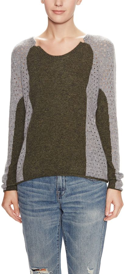 Eleanor Cashmere Perforated Sweater