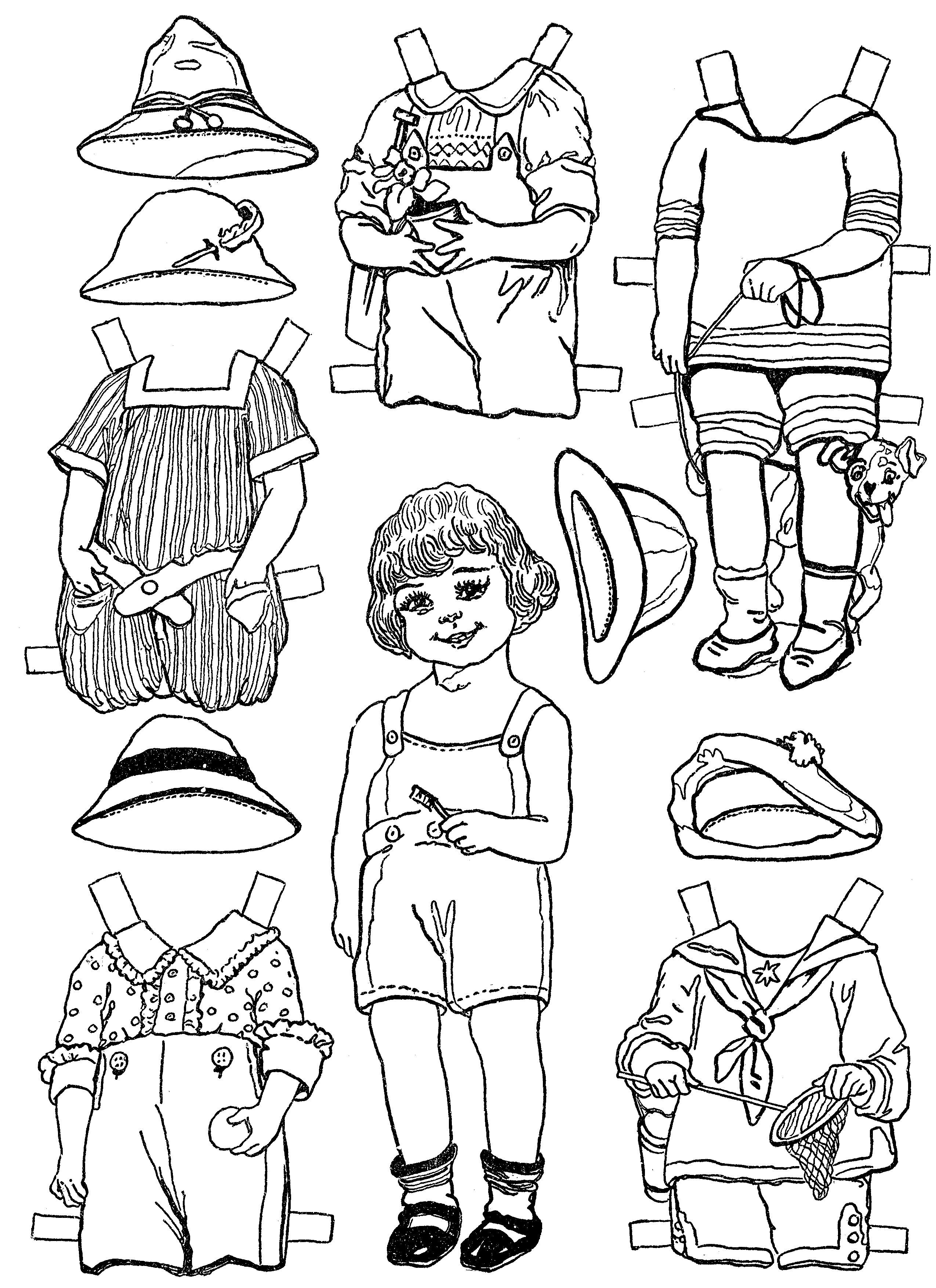 Paper Dolls And Paper Doll Dresses Printable From Kid Fun Paper