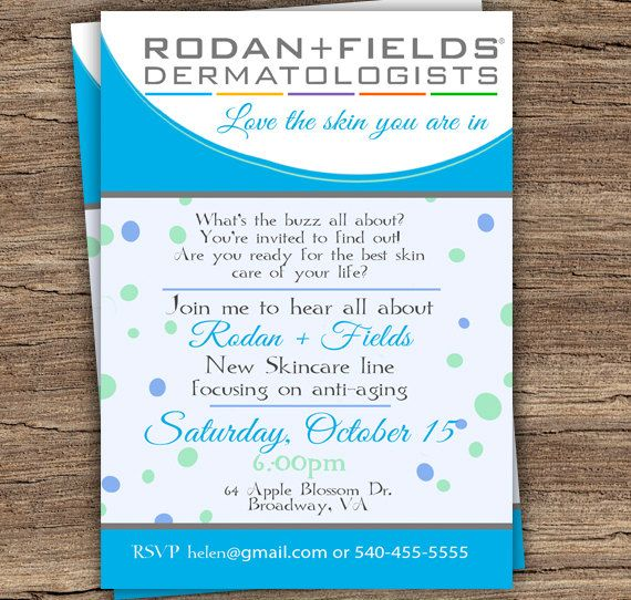 Editable Rodan And Fields Party Invitation Diy By Tanyasprints