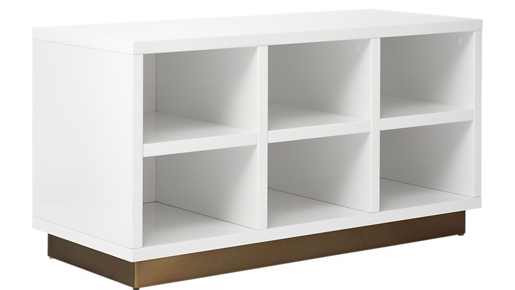 Oberlin Small White Entry Bench Modern Storage Bench Small