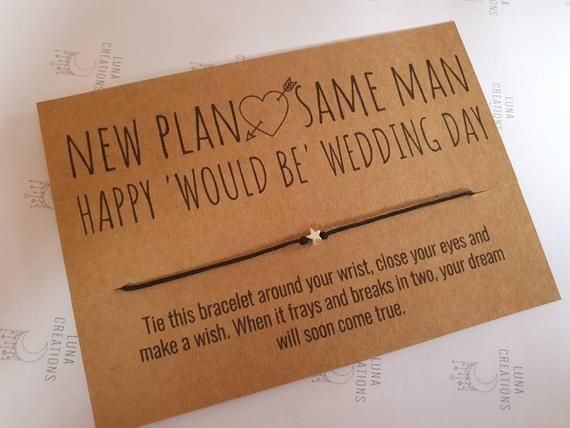 New Plan Same Man Would be Wedding Day Wedding Day Wish | Etsy