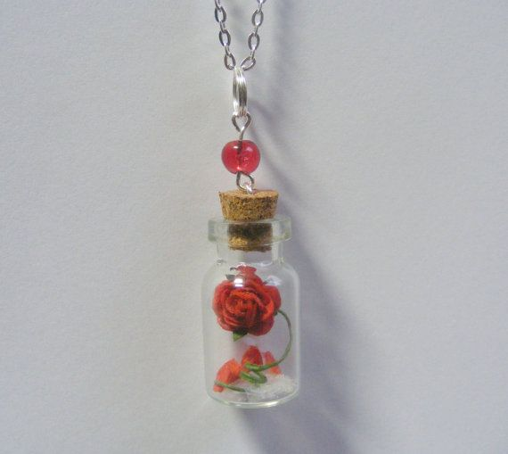 Beauty and the Beast Rose Necklace Pendant Miniature by NeatEats, £11.99