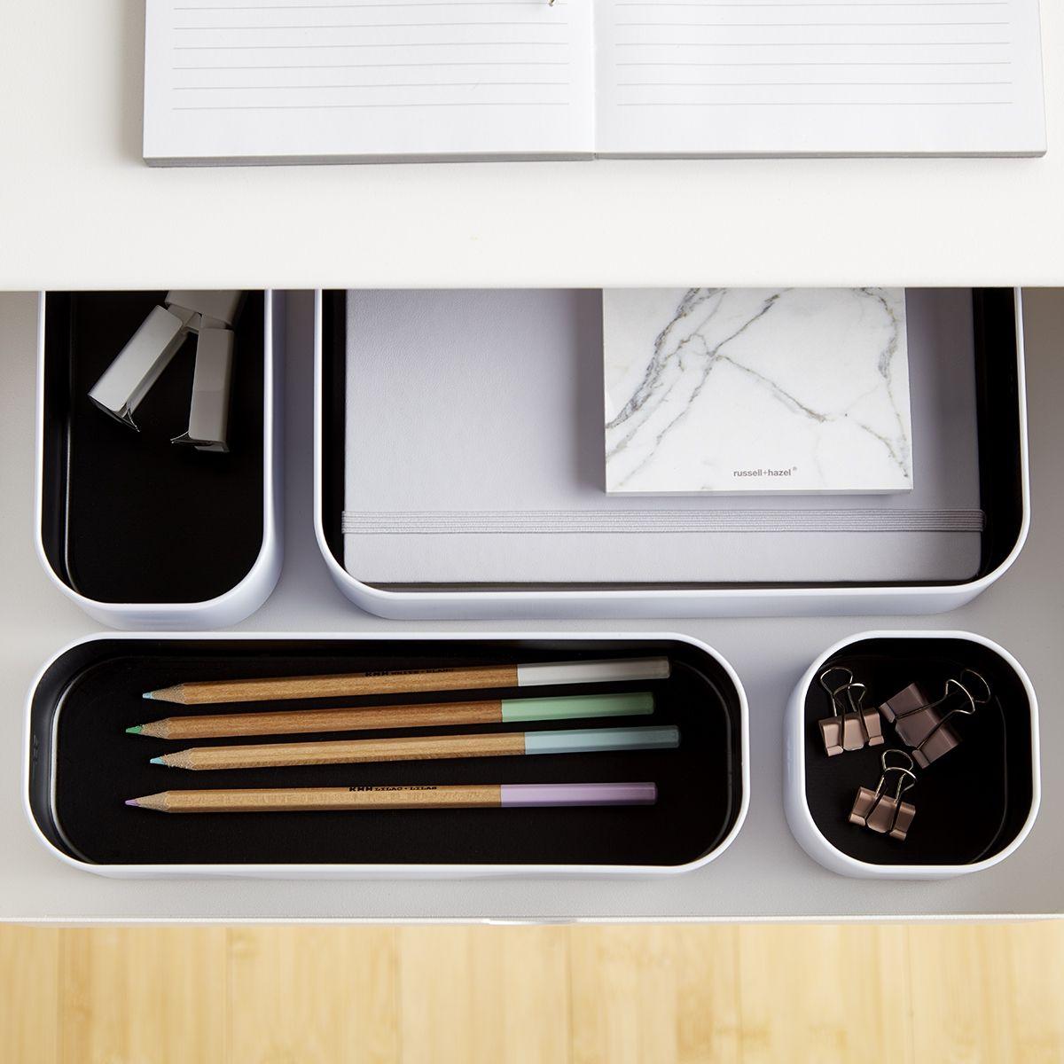 Three By Three Black White Metal Drawer Organizers Beautiful Dorm Room Dorm Room Organization Container Store