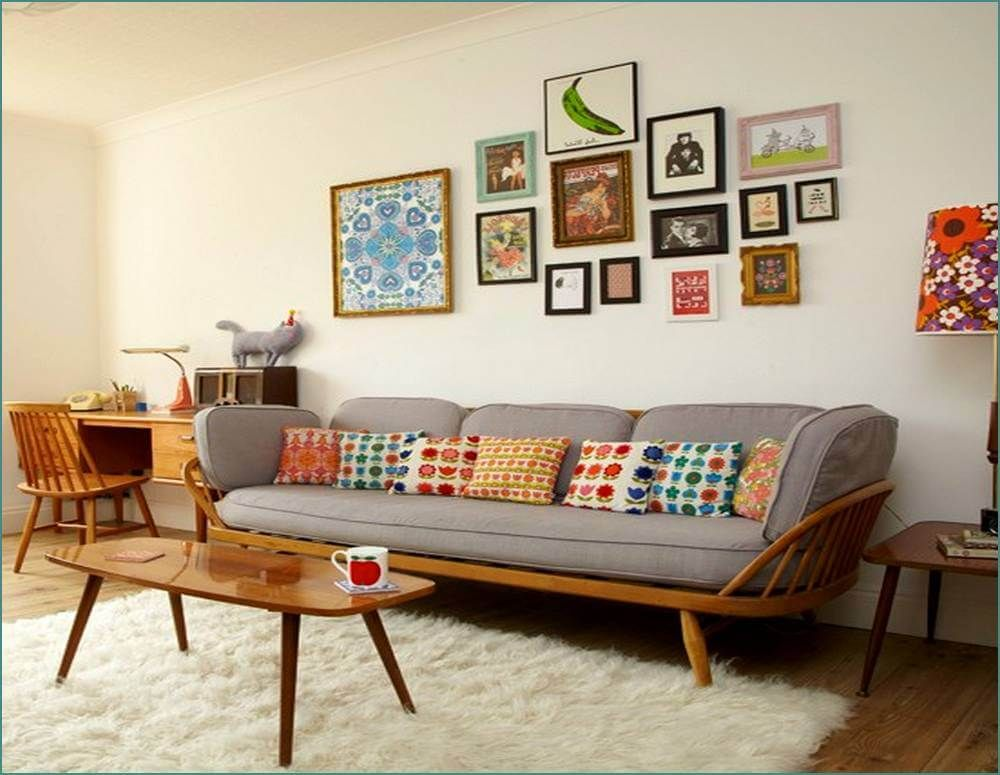 Retro Style Living Room Colourful