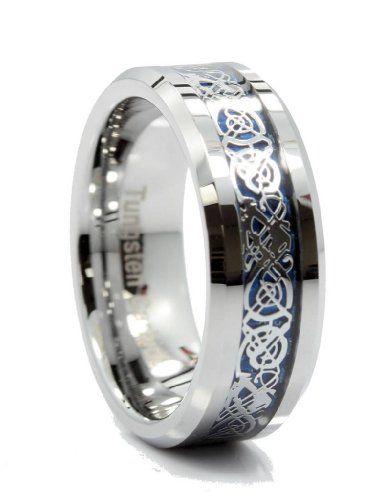 8MM Tungsten Carbide Ring Blue Celtic Dragon Men Women Wedding Band Size 10 Metals Jewelry http://www.amazon.com/dp/B00KRLTBTS/ref=cm_sw_r_pi_dp_HMylub1YSE6RS