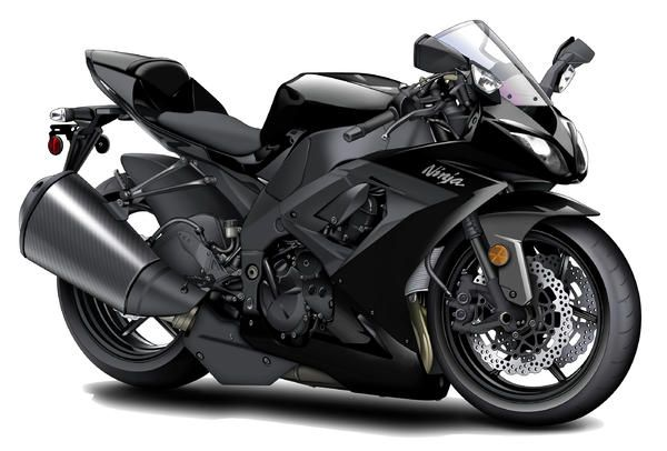 Kawasaki Ninja Black Motorcycle Greeting Card For Sale By Maddmax