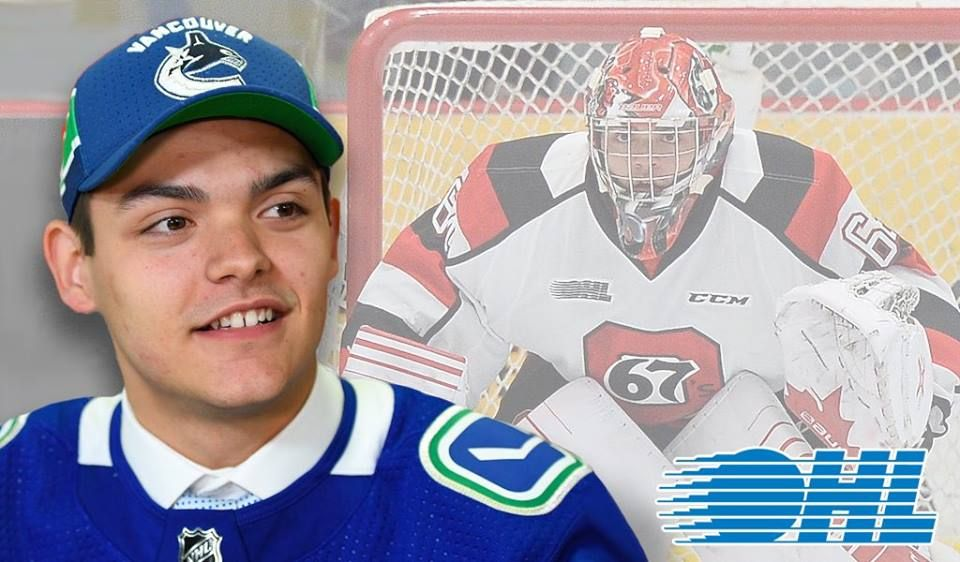 Ohl Goalie Mike Depietro Makes His Nhl Debut Feb 11 19 Called Up When Demko Was Injured Vs The Sharks It Was A Loss 7 2 Bu Goalie Baseball Cards Canucks