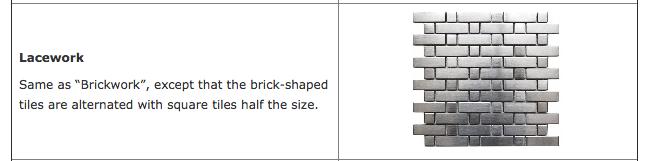 Lacework tile pattern