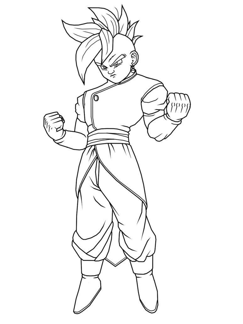 Dragon Ball Z God Emperor Ready To Fight  Dragon Ball Z Coloring