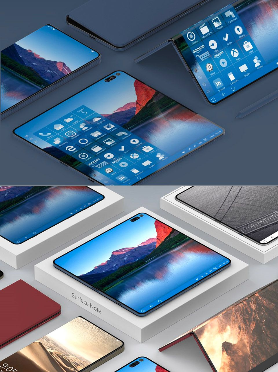 If folding smartphones ran Windows, this is how it would