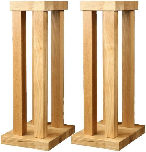 chunky oak hifi speaker stands | Speaker stands, Diy ...