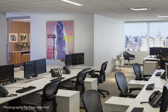 Inside lek securities art filled new york city offices for Interior design office new york