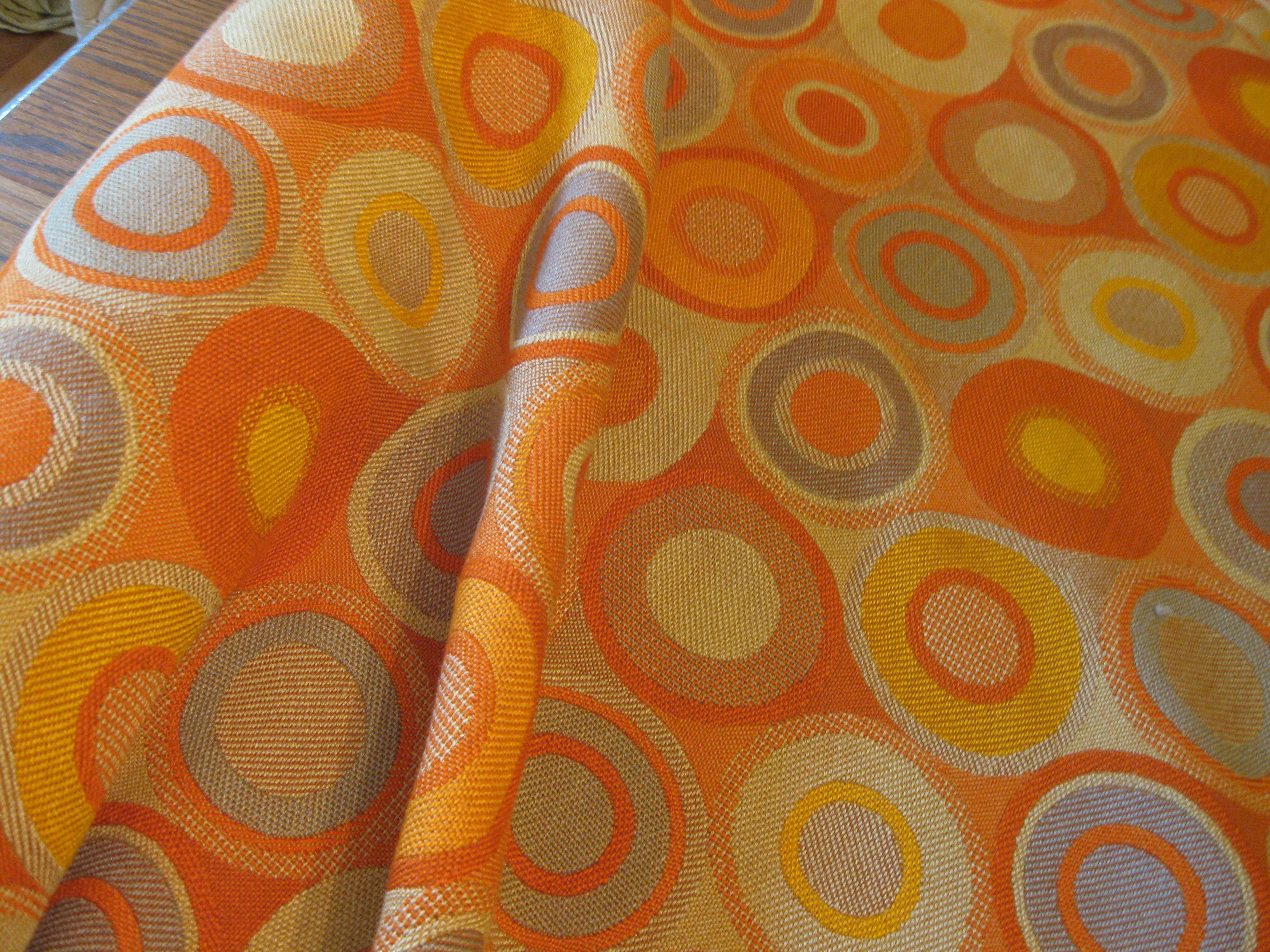 Vintage 70s Upholstery Fabric Great 70s Fabric Still Looking For A Sofa Save That Fabric