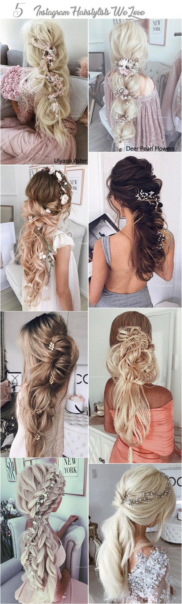 long wedding hairstyles from best instagram hairstylists long