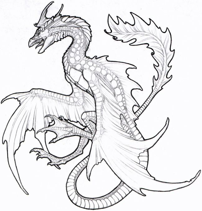 Dragon Coloring | Dragon Coloring Pages | Pinterest