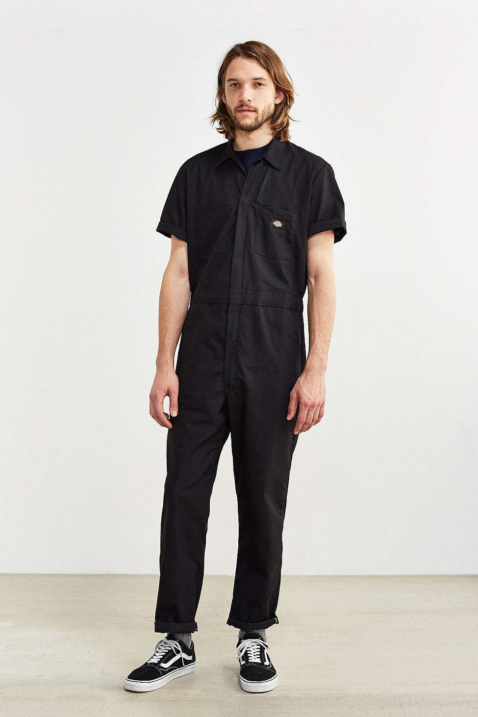 3aed5b046b Dickies Basic Short-Sleeve Coverall in 2019 | Him. | Basic shorts ...