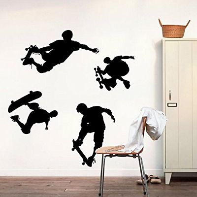 Details about Wall Decal Playing Skateboard Home Sticker