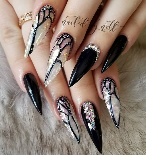 40 The Best Unique And Trendy Acrylic Stiletto Nails Art For 2019 Spring Summer In 2020 With Images Stiletto Nails Designs