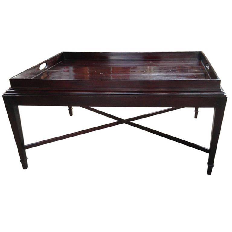 Barbara barry baker mahogany java tray coffee table java tables and trays Baker coffee table