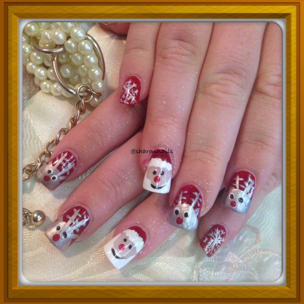 Xmas nails by sharonnails